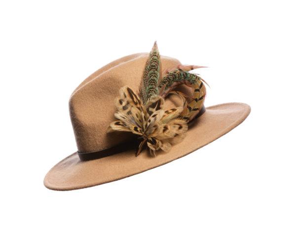 Blue Hen Pheasant Biot Feather Hat Pin