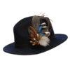 Guinea Mallard Mix Feather Hat Pin