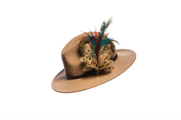 Mixed Heart Feather Hat Pin