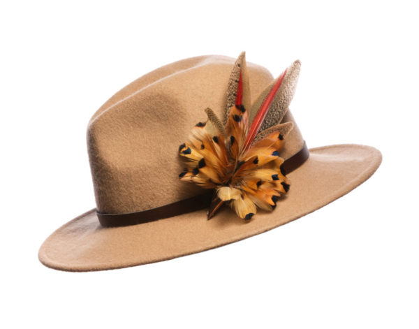 Golden Pheasant Feather Hat Pin