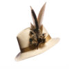 Large Melanistic Feather Hat Pin
