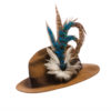 Large Peacock Blue Feather Hat Pin