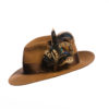 Melanistic Biot Feather Hat Pin