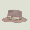 peacockgold hatband on hat