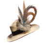 Large Blue Jay Feather Hat Pin