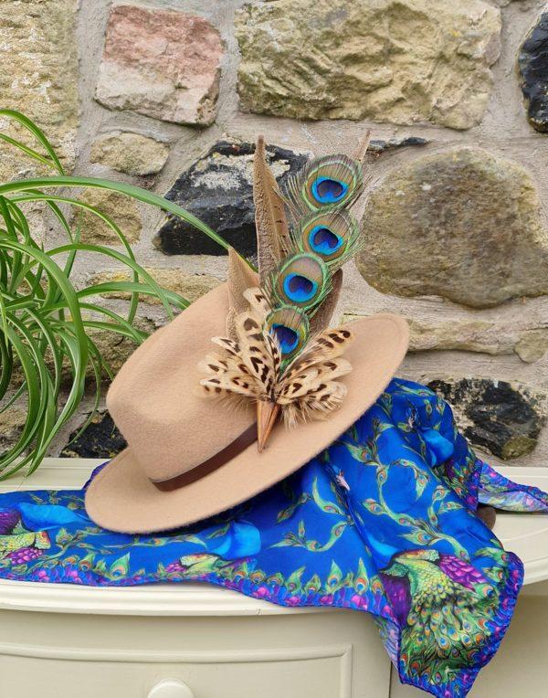 SKU LPEL16 large peacock eye layered hatpin 1