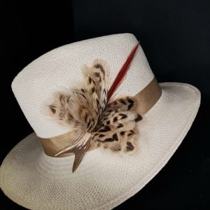 Feather hat pin